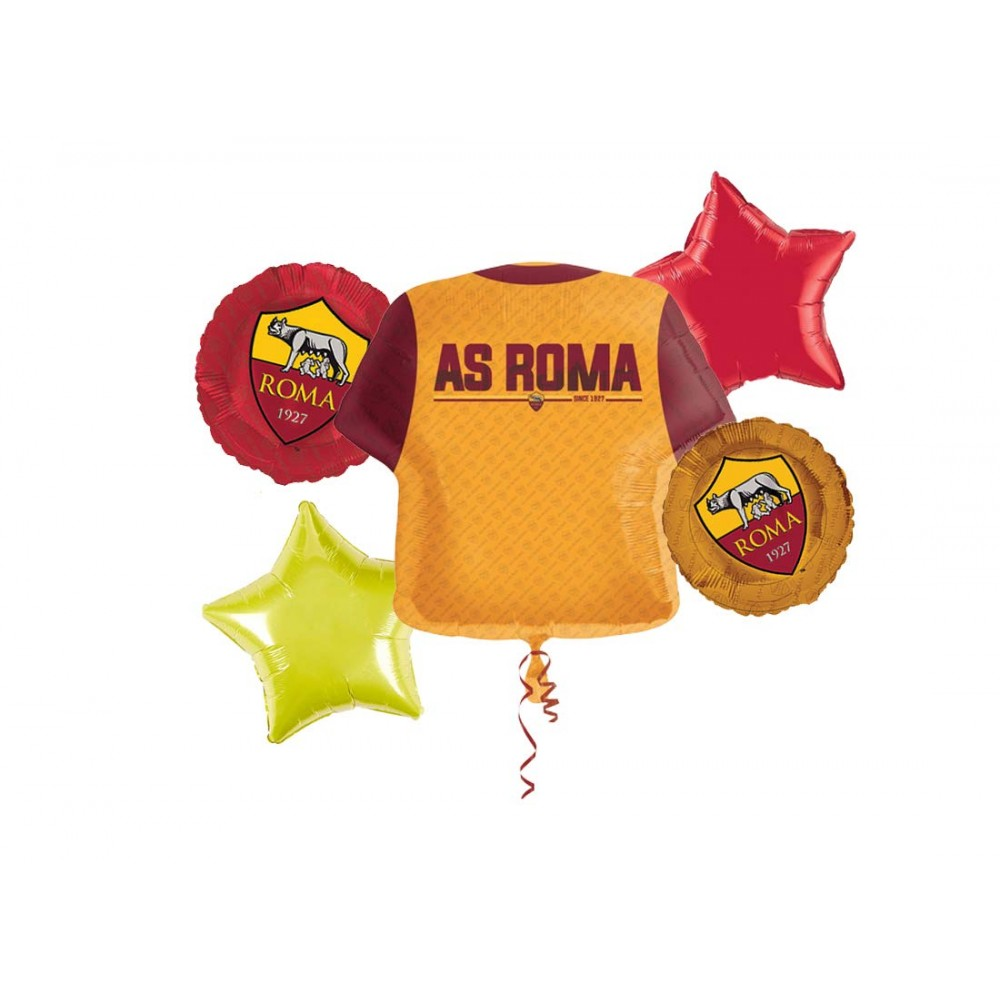 Bouquet palloncini A.S Roma per veri tifosi giallorossi