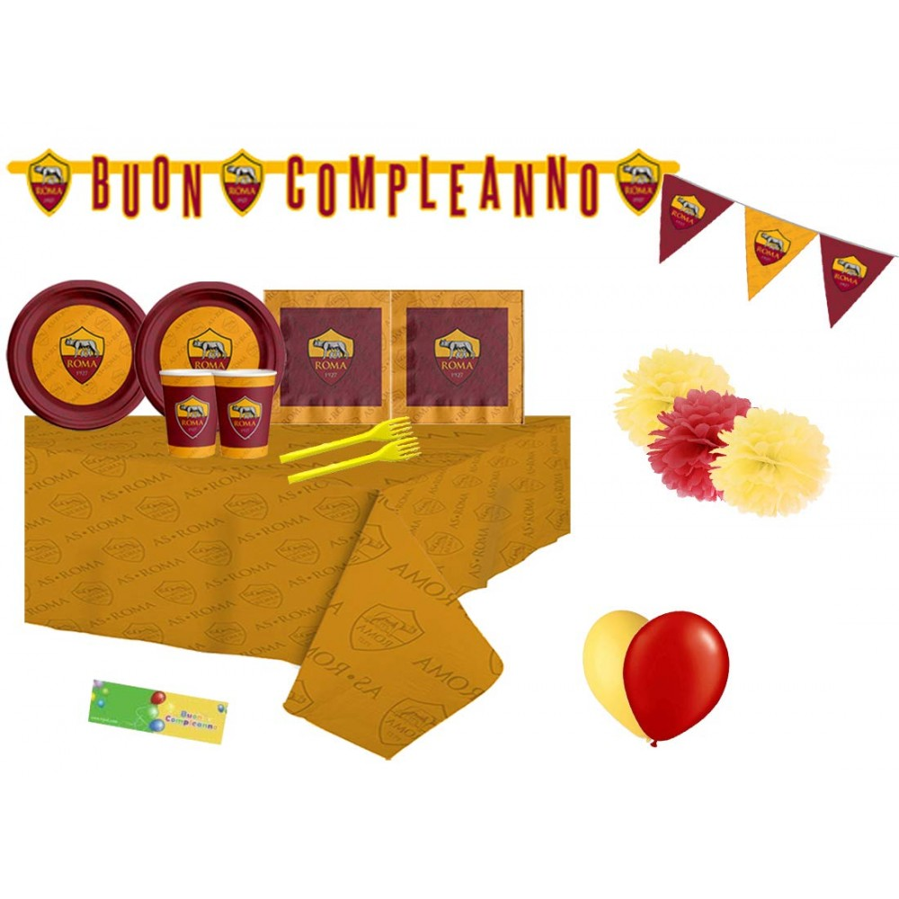 Kit 40 persone A.S Roma