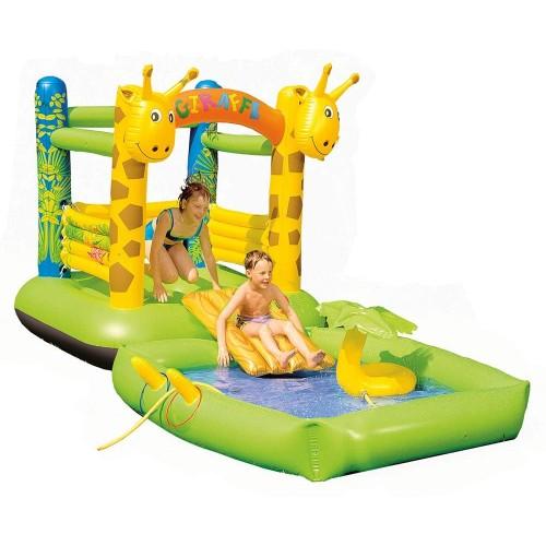 Gonfiabile piscina Castello Giraffa per esterno per bambini