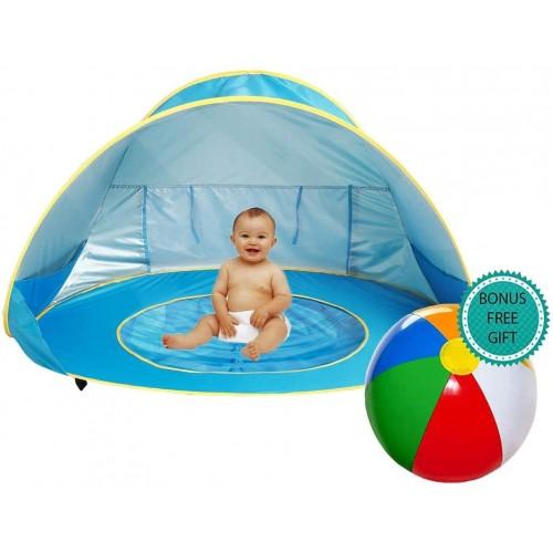 Tenda spiaggia per bambini con mini piscina
