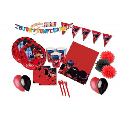 Kit compleanno per 16 persone Lady Bug