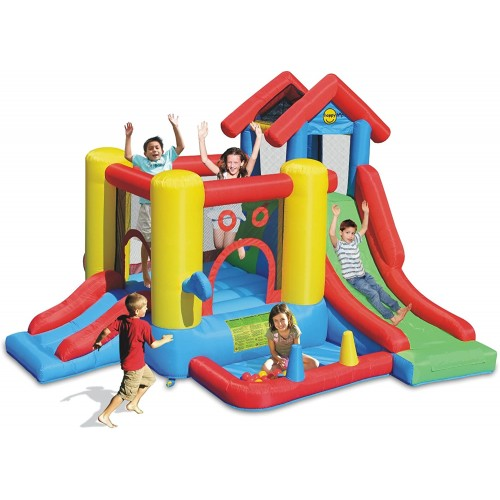 Gonfiabile Play house per esterno con scivolo