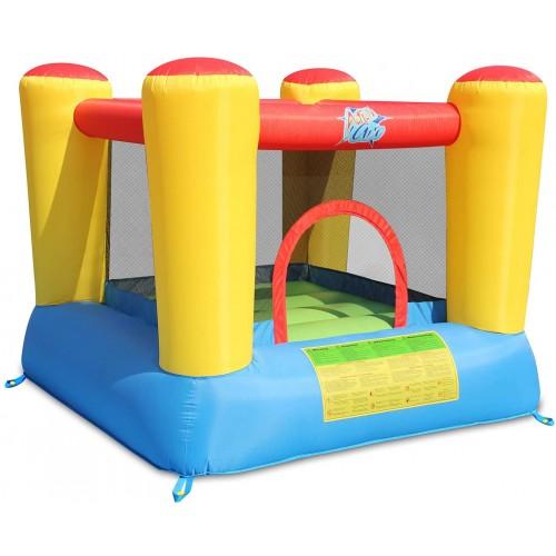 Gonfiabile castello con trampolino e saltapicchio