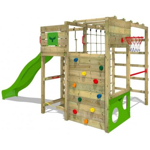 Parco giochi in legno con Torre e percorso giochi