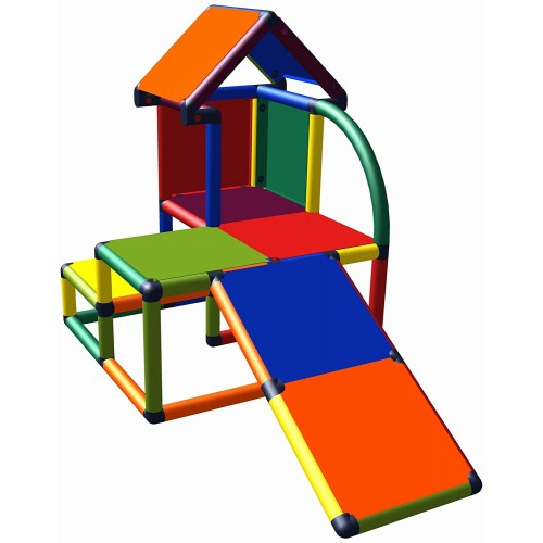 Casetta con scivolo per bambini da giardino