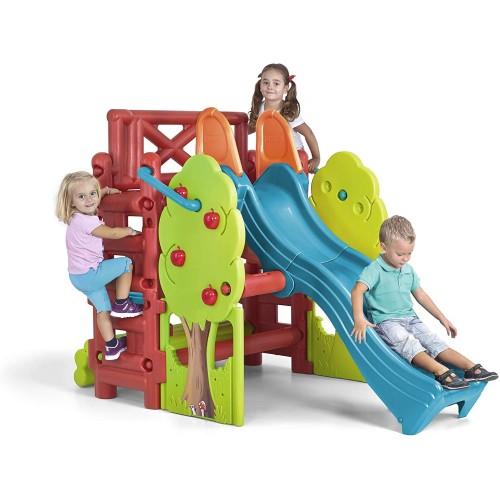 Casetta del bosco per bambini con scivolo