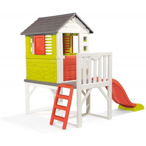 Casetta da gioco con palafitta e scivolo, per bambini