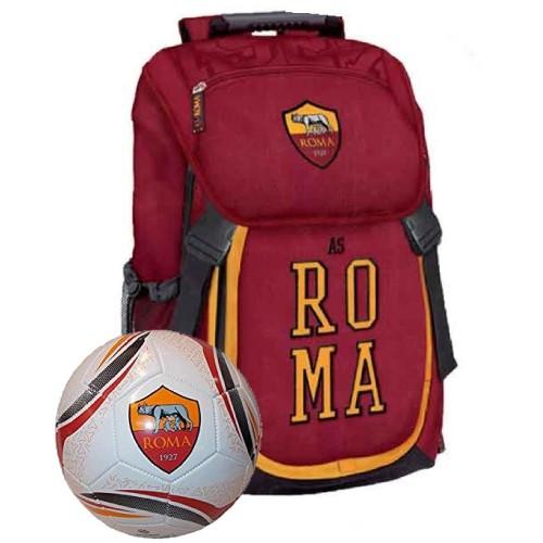 Zaino scuola A.S Roma con pallone omaggio