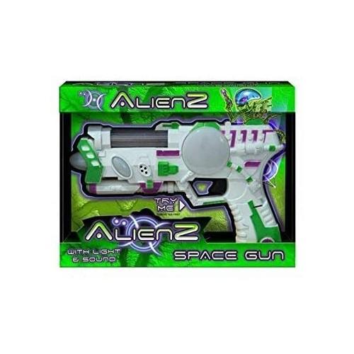 Pistola spaziale giocattolo con luci e suoni
