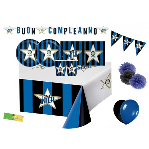 Kit 32 persone F.C Inter, per feste e party a tema