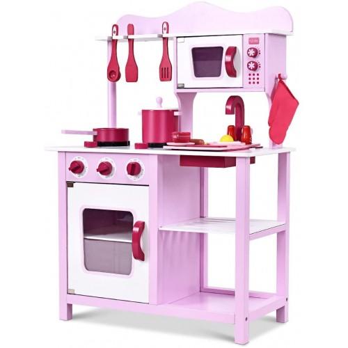 Cucina giocattolo per bambini 84,5 x 30 x 60 cm con attrezza