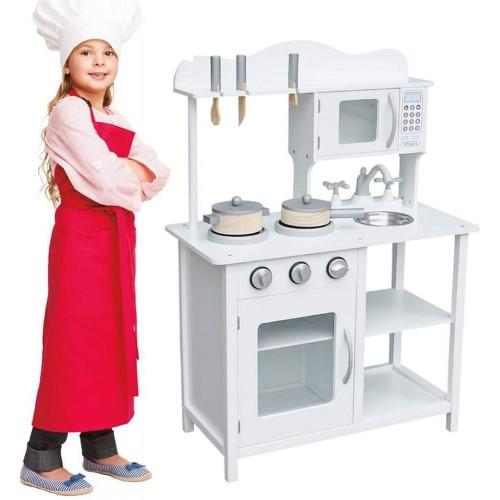 Cucina in legno giocattolo con lavello in Acciaio - BAKAJI