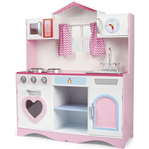 Cucina giocattolo rosa modello lineare, Leomark