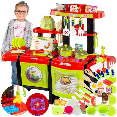 Cucina con 36 accessori giocattolo per bambini - Kinderplay