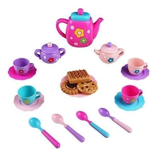 Servizio da tè giocattolo con 19 accessori