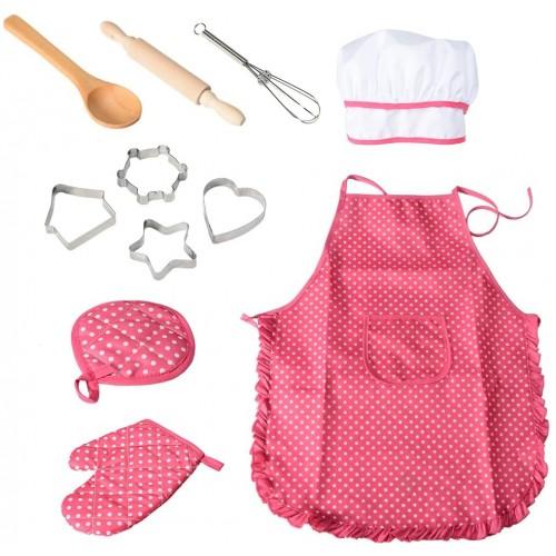 Set vestiti e accessori da cucina per bambini