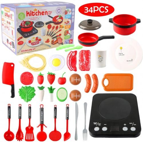 Set cucina per bambini con tanti accessori giocattolo