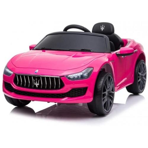 Maserati Ghibli auto elettrica per bambini, babycar rosa