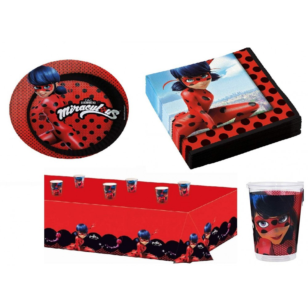 Kit compleanno 24 persone Lady Bug