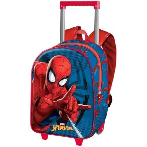 Trolley zaino Spiderman stampe 3D con ruote
