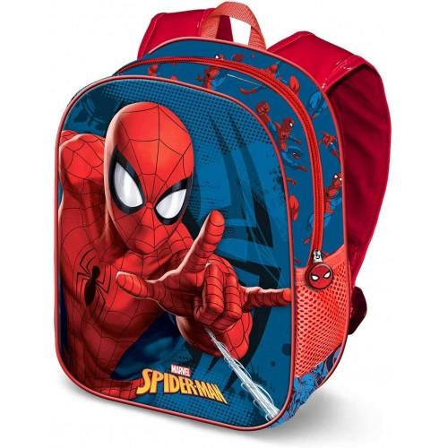 Zaino 3D  Spiderman per l'asilo, con stampe in rilievo