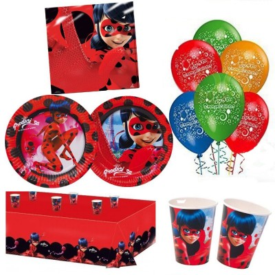 Kit compleanno per 40 persone Lady Bug