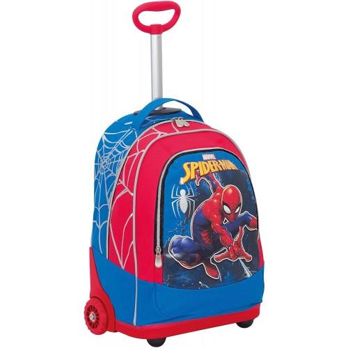 Trolley Ultimate Spiderman rosso, spallacci a scomparsa