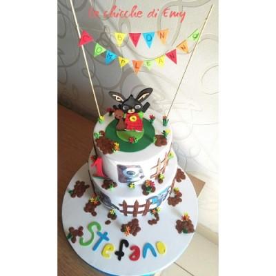 Torta finta Bing 3 piani, per feste eallestimenti