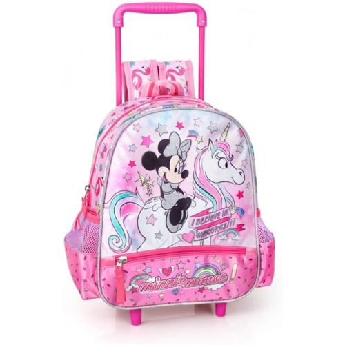 Zaino trolley Minnie Unicorn Disney per l'asilo