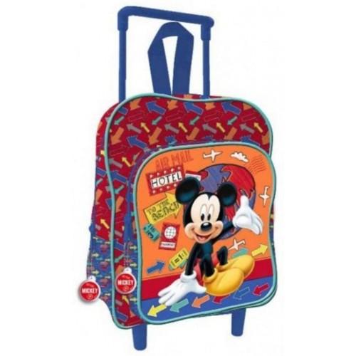 Trolley asilo, zainetto Topolino Mikey Mouse