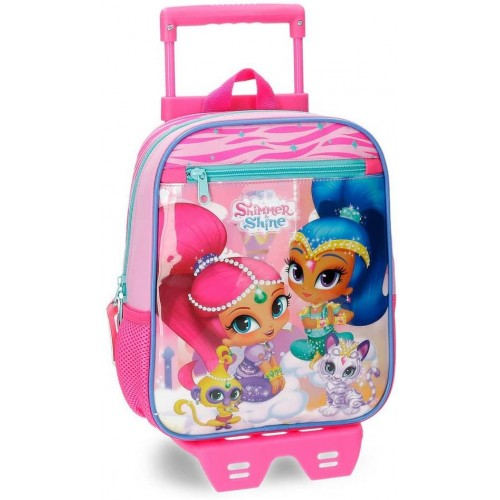 Trolley scuola Shimmer and Shine per l'asilo