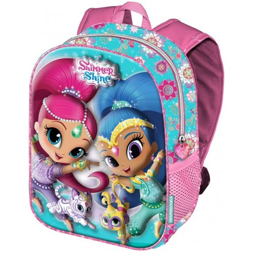 Zaino scuola Shimmer and Shine stampe in rilievo