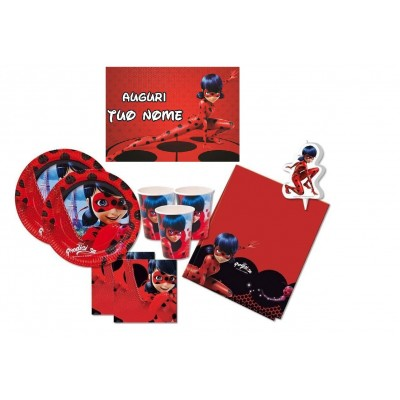 Kit compleanno per 32 persone Lady Bug