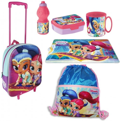 Set scuola Shimmer and Shine con trolley, kit merenda