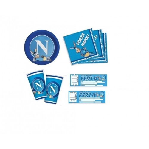 Big Party Kit n.23 ssc Napoli con blocchetto inviti