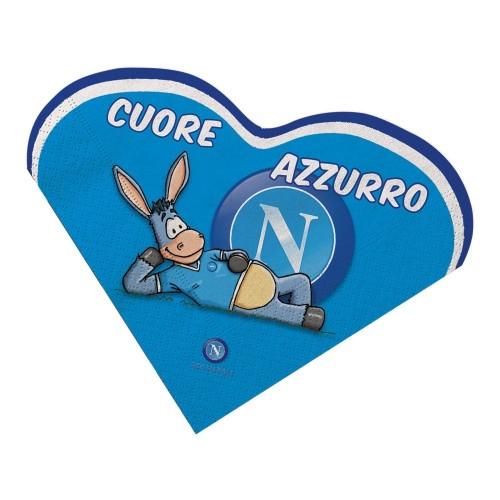 16 Tovaglioli cuore SSC Napoli