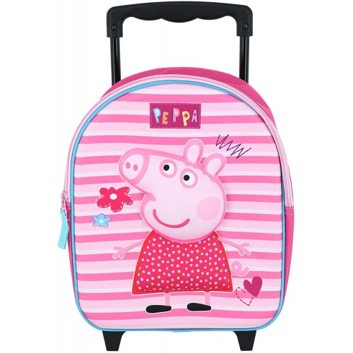Trolley asilo Peppa Pig colore rosa