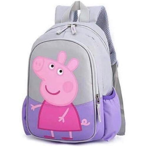 Zainetto asilo Peppa Pig rosa e grigio