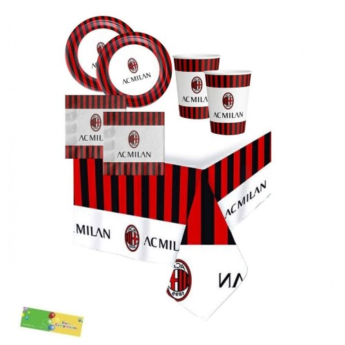 Kit compleanno A.C Milan per 16