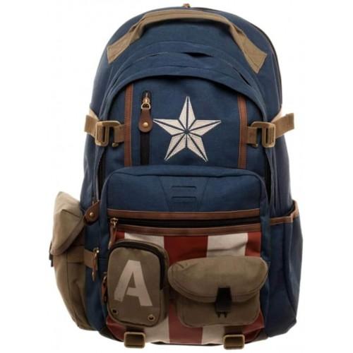 Zaino scuola scudo Captain America - Marvel, multi tasca