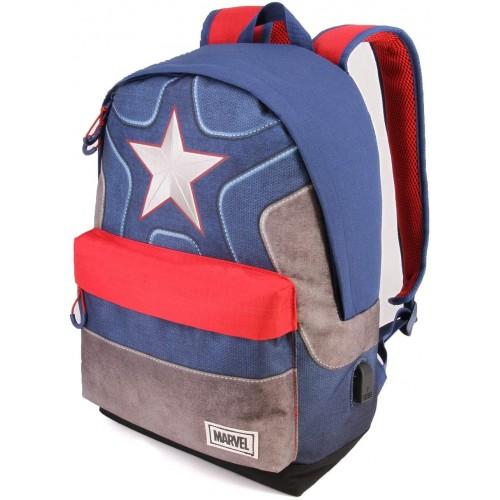 Zaino casual Captain America Avengers Marvel con USB