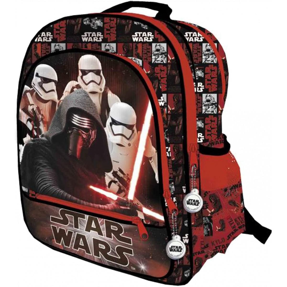 Zainetto con 3 zip Star Wars - Guerre Stellari, Prodotto ufficiale