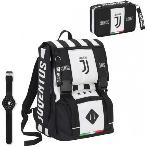 Set scuola Juventus con zaino, astuccio e orologio -  Seven