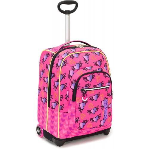 Trolley Seven NYMFE rosa, per la scuola o il tempo libero