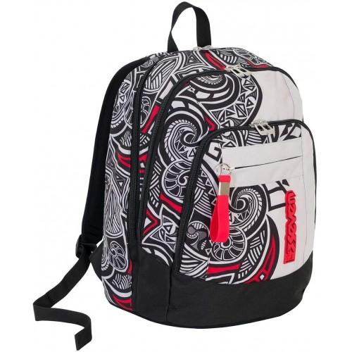 Zaino scuola Seven - Rawiri grigio e rosso, originale