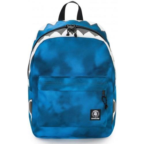Zaino Invicta- Gash colore blu, per la scuola, Shark
