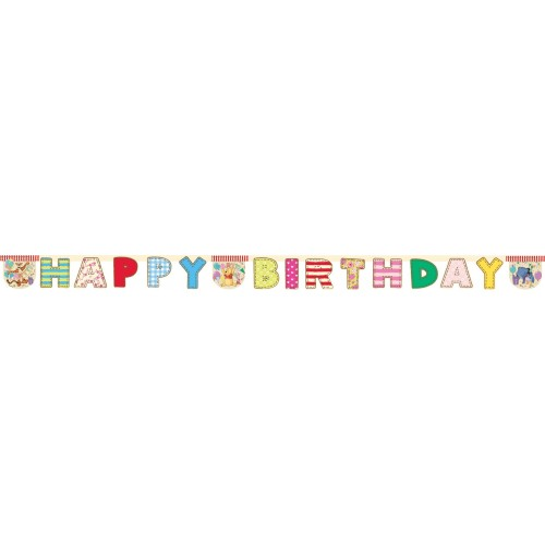 Ghirlanda Happy Birthday Winnie the Pooh