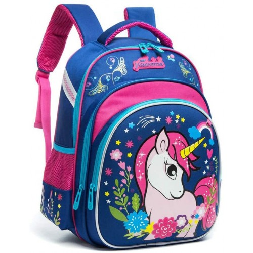 Zaino Unicorno per la scuola elementare, traspirante ed ergonomico
