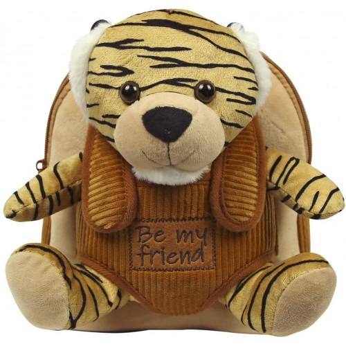 Zaino Peluche Tigre per la scuola, peluche removibile