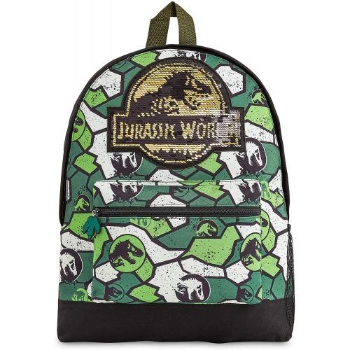 Cartella scuola Jurassic World - Logo Reversibile in paillettes